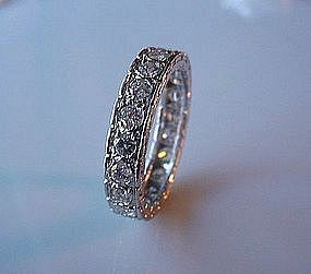 PLATINUM AND DIAMONDS ANNIVERSARY BAND 1.50 CARATS TDW