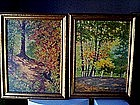 Pr OIL PAINTINGS by J.GALLAGHER{Spring & Fall