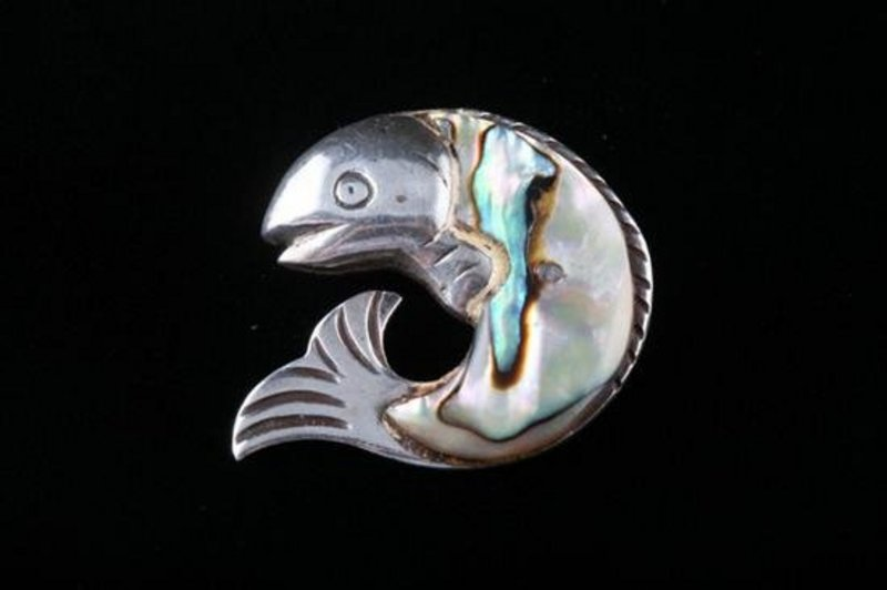 WILLIAM SPRATLING FISH BROOCH CA 1960'S