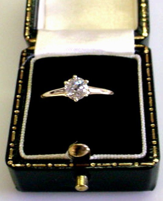 ANTIQUE HALF CARAT DIAMOND ENGAGEMENT RING