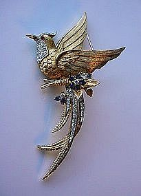 LARGE SIGNED MARCEL BOUCHER BIRD BROOCH