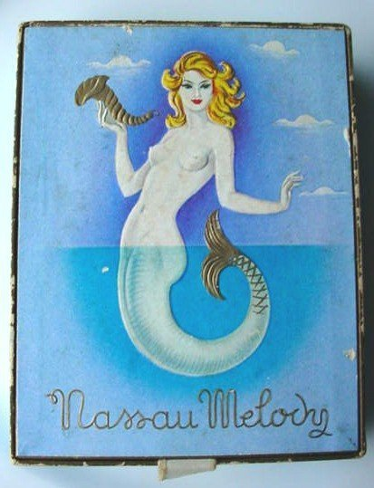 VINTAGE PERFUME BOX MERMAID COVER 'NASSAU MELODY'