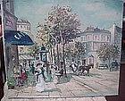 PARIS STREET...CAFE DES ARTIST{Lady wParasol