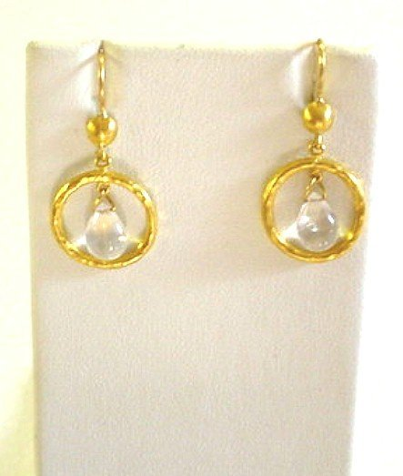 LIKA BEHAR PR. MOONSTONE & 24K EARRINGS