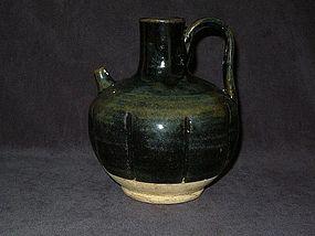 Song Dynasty - Black Glazed Eight Lobed Ewer