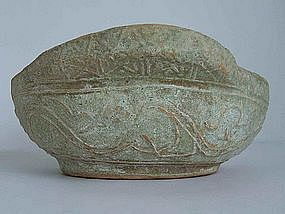 Han Dynasty - Well Preserved Green Glaze Ear Cup