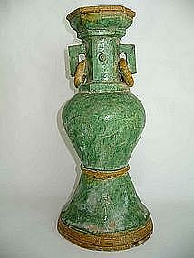 Ming Dynasty - Funeary Green Glaze Vase
