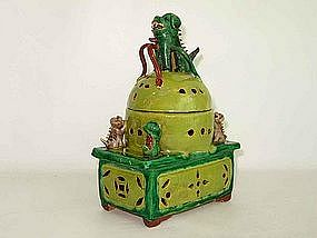 Dog of Fo Porcelain Incense Burner � Late 19th Century