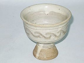Song Dynasty - White Glaze Stem Cup