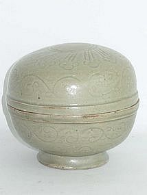 Yuan Dynasty - Celadon Covered Box