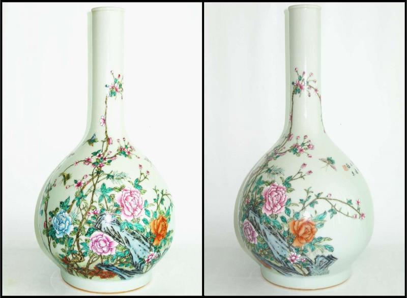 Early Republic - Famille Rose Tianqiuping Vase