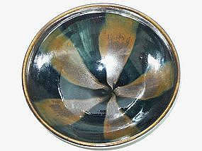 Jin / Yuan Dynasty -  Russet Streak Glazed Black Bowl