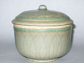 Song Dynasty - Yingqing or Qingpai Lotus Covered Bowl