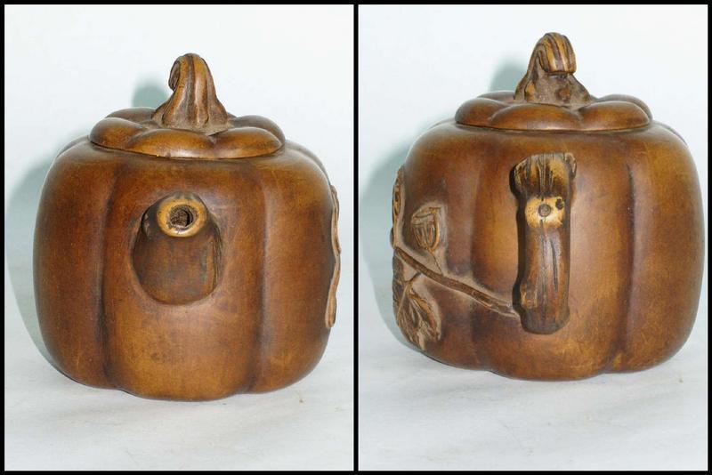 Early Republic: Pumpkin-Shaped Yixing Teapot
