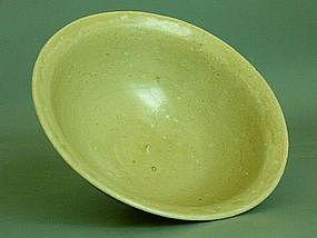 Song Dynasty - Monochrome Green Glazed Bowl