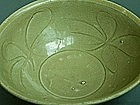 Song Dynasty  - Large Green Glazed Incised Bowl