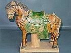 Ming Dynasty - Funerary Sancai Glazed Horse