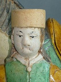 Ming Dynasty - Funerary Sancai Foreign Groom and Horse