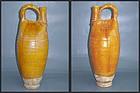 Liao Dynasty - Tall Amber Glazed Pouch Ewer