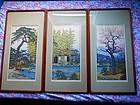 Toshi Yoshida Woodblock Print Triptych  (SOLD)