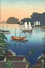 Rare Tsuchiya Koitsu Woodblock Unzen Shimabara SOLD