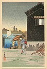Takahashi Shotei Woodblock Print - Imado SOLD
