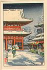 Tsuchiya Koitsu Woodblock Print - Asakusa Kannon