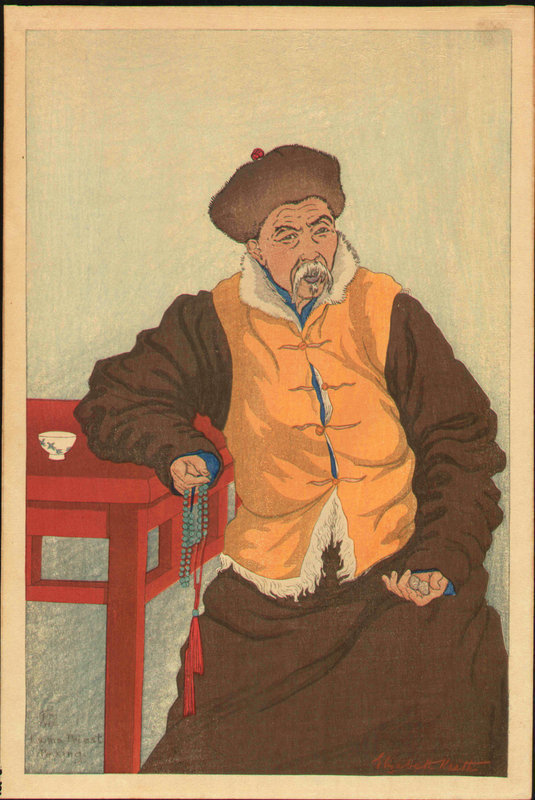 Elizabeth Keith Woodblock - Lama Priest, 1922 SOLD
