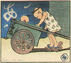 Helen Hyde Woodblock Print - The Go-Cart 1913 SOLD