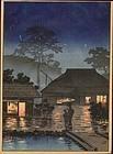 Tsuchiya Koitsu Woodblock Print - Rain SOLD