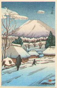 Ishiwata Koitsu Japanese Woodblock Print - Fuji In Winter