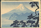 Kasamatsu Shiro Woodblock Print - Fuji 1st ed. SOLD