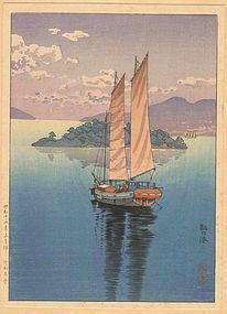 Koitsu Woodblock Print - Tomo - Takemura SOLD