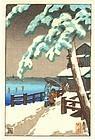 Kawase Hasui Woodblock Print - Arakawa Snow SOLD