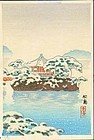 T. Koitsu Woodblock Print - Matsushima SOLD