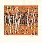 Fumio Fujita Japanese Woodblock Print - Autumn SOLD