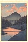 Hasui Kawase Woodblock Print - Hida Kamagatake SOLD