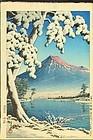 Hasui Kawase Woodblock Print - Mt. Fuji after Snow SOLD