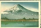 Tsuchiya Koitsu Japanese Woodblock Print - Mt. Fuji at Kawaguchi