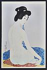Hashiguchi Goyo Japanese Woodblock Print - Woman After Bath SOLD