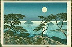 Koichi Okumura Japanese Woodblock Print - Evening at Washiuzan SOLD