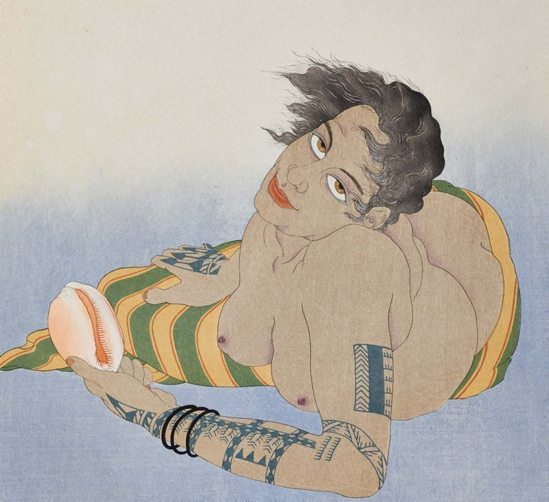 Paul Jacoulet Woodblock Femme Tatouée de Falalap - 1st ed. SOLD