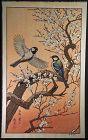 Toshi Yoshida Japanese Woodblock Print - Birds in Spring SOLD