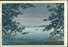 Kawase Hasui Woodblock Print - Takehara, Matoba - 1st edition SOLD