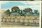 Kawase Hasui Japanese Woodblock Print - Kanago Village - 1954 1st ed.