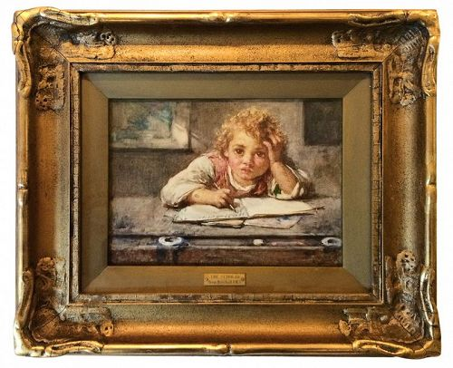 Henry Henshall Watercolor Painting - The Scholar
