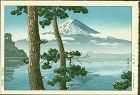 Tsuchiya Koitsu Woodblock Print - Mt. Fuji at Lake Kawaguchi  SOLD