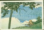 Kawase Hasui Japanese Woodblock Print -Lake Matsubara Shinshu SOLD