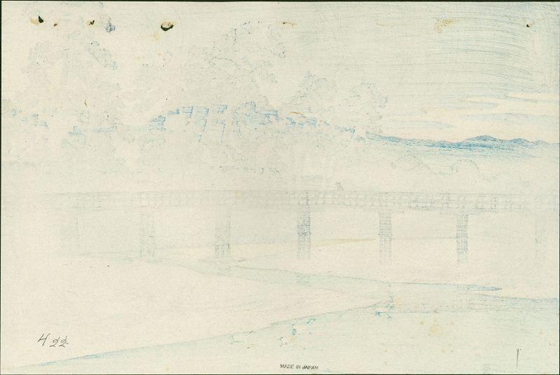 Kawase Hasui Woodblock Print - Asano River - Pre-Earthquake SOLD