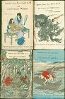 Japanese Fairy Tales - Four Griffith Farran Woodblock Books - Rare